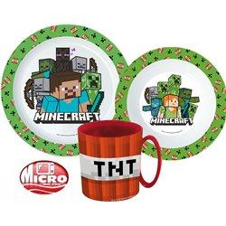 STOR Dětská sada plastového nádobí MINECRAFT TNT S HRNKEM 3 dílná