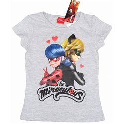 Dětské tričko Miraculous Ladybug šedé (velikost 128 cm)