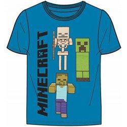 FASHION UK Bavlněné tričko MINECRAFT BLUE 128 cm