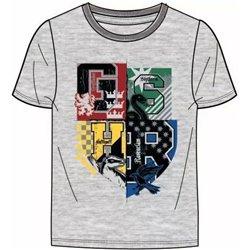 FASHION UK Bavlněné tričko HARRY POTTER GREY 128 cm