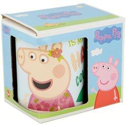 STOR Porcelánový hrnek PEPPA PIG PINK 325 ml