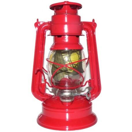 Plechová petrolejová lampa MEVA 864 (červená)