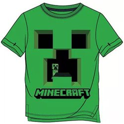 FASHION UK Bavlněné tričko MINECRAFT CREEPER zelené 128 cm