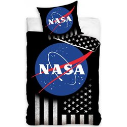 CARBOTEX Bavlněné povlečení NASA SILVER STARS 140x200, 70x90 cm