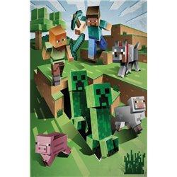 HALANTEX Dětská fleece deka MINECRAFT FARMA 130x170 cm