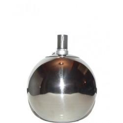 Plechová petrolejová lampa 38cm (bílá)