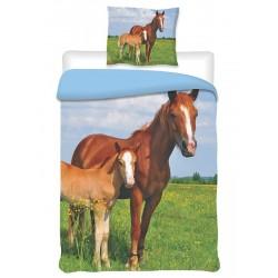 Jerry Fabrics bavlna povlečení Koně 2014 140x200cm 70x90cm