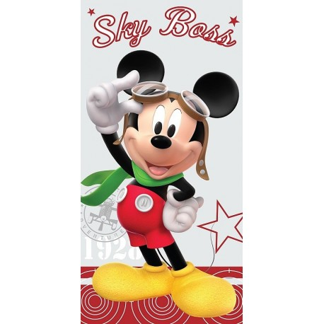 JERRY FABRICS Osuška Mickey Mouse Pilot 75x150 cm