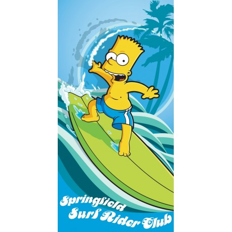 Dětská osuška Simpsons Bart surf