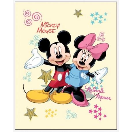 Deka fleece Mickey a Minnie