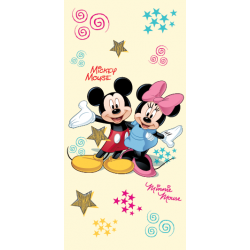 Osuška Jerry Fabrics Mickey a Minnie froté 75x150 cm