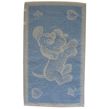 Dětský ručník Pejsek (světle modrý)