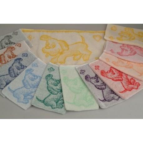 Dětský ručník Pejsek (žlutý)