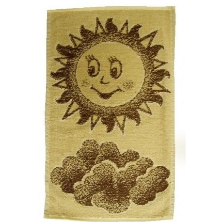 Dětský ručník Sluníčko (hnědé)