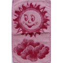 Dětský ručník Sluníčko (vínové)