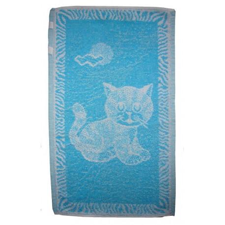 Dětský ručník Kotě (tyrkysové)