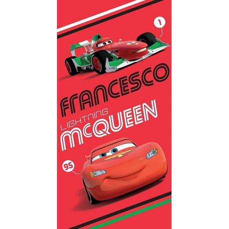 JERRY FABRICS Osuška Cars 2014 červená 75x150 cm