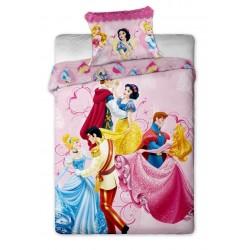 Jerry Fabrics Povlečení Disney Princezny dancing 140x200 70x90