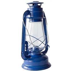 Plechová petrolejová lampa 30 cm (modrá)