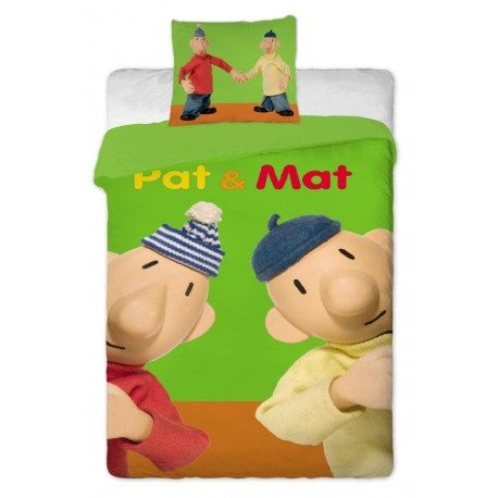 Dětské povlečení Pat a Mat zelený