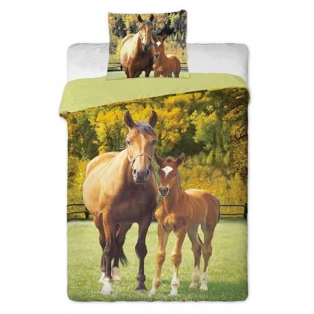 Povlečení Koně zelené (fototisk)