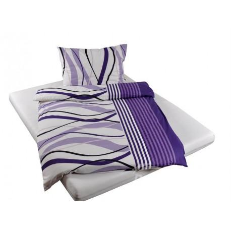 Bavlněné povlečení hladká bavlna vlnky (fialové)