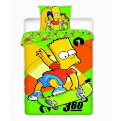 Jerry Fabrics povlečení bavlna Simpsons Bart Skate 140x200 70x90