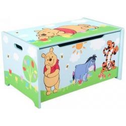 DELTA Dětská dřevěná truhla Medvídek Pú