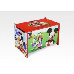 DELTA Dětská dřevěná truhla Mickey