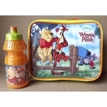DIOMECADO Svačinová taška Medvídek Pů + láhev 24x22 x7 cm