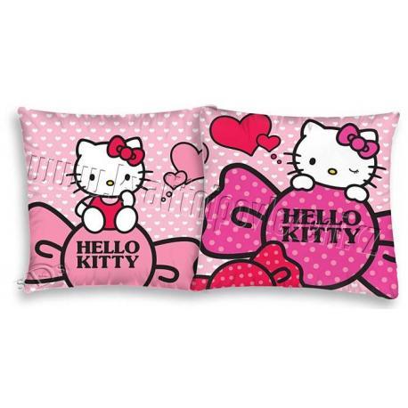 Povlečení na polštářek Hello Kitty srdíčka 40x40