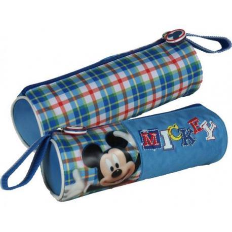 Kulatý penál Mickey modrý 21 cm