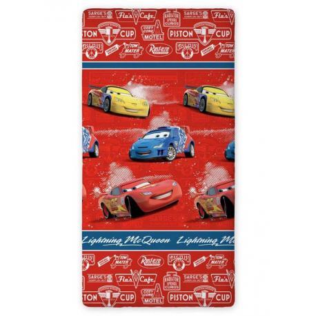 Dětské prostěradlo Cars červené (90x200 cm)