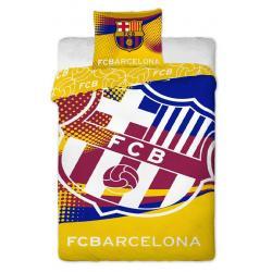 Jerry Fabrics povlečení FC Barcelona yellow 140x200 70x90
