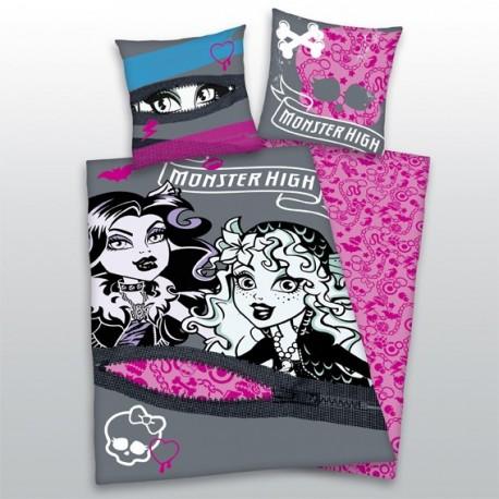 Dětské povlečení Monster High šedá/růžová