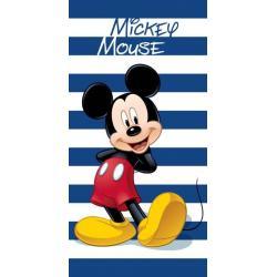 Osuška Faro Mickey proužky bavlna-froté 70/140 cm