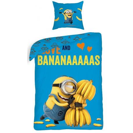 Povlečení bavlna Halantex DM022BL - Mimoň bananas 1x 140/200, 1x 90/70