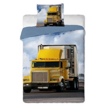 Povlečení bavlna fototisk - Kamion 2015 1x 140/200, 1x 90/70