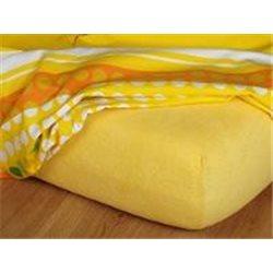 Froté prostěradlo 90x200 (tmavě žluté)