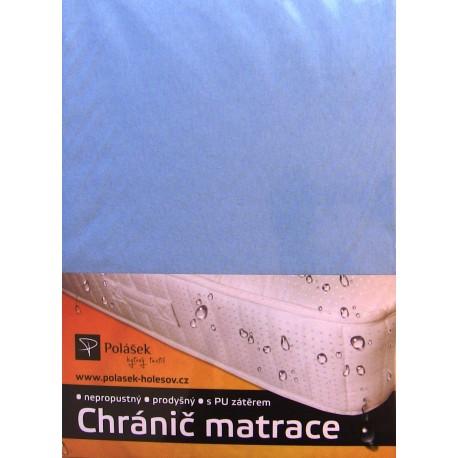 Jersey nepropustné prostěradlo 90x200 cm (světle modré)
