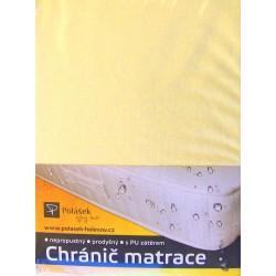 Polášek Nepropustné napínací jersey prostěradlo sv. žluté 90x200