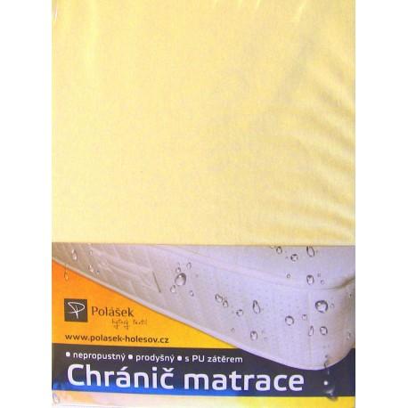 Jersey nepropustné prostěradlo 90x200cm (světle žluté)