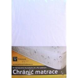 Polášek Nepropustné napínací jersey prostěradlo bílé 90x200
