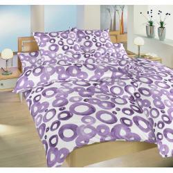Dadka Akvarel fialový povlečení krep 140x200 70x90