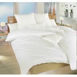 Krepové povlečení jednobarevné 140x200, 70x90 cm (bílé)