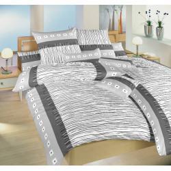 Krepové povlečení Fata morgána 140x200, 70x90 cm (šedé)