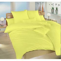 Krepové povlečení jednobarevné 140x200, 70x90 cm (světle žluté)