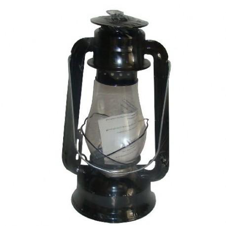 Plechová petrolejová lampa 30cm (černá)