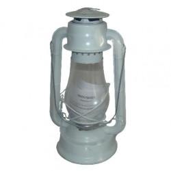 Plechová petrolejová lampa 30 cm (bílá) 2. jakost