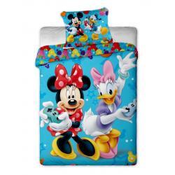 Jerry Fabrics Povlečení Mickey a Minnie games bavlna 140x200 70x90